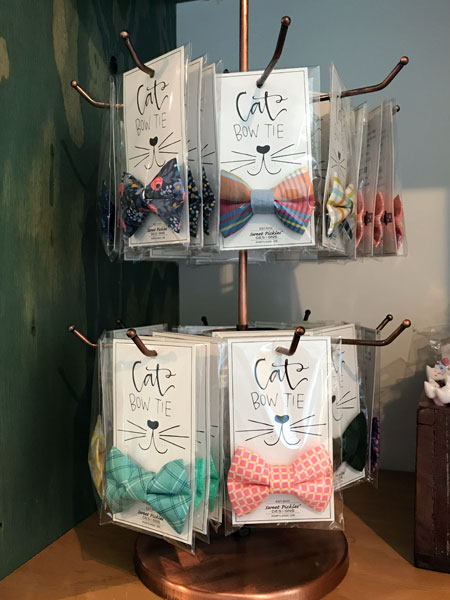 cat bow ties at Catfe