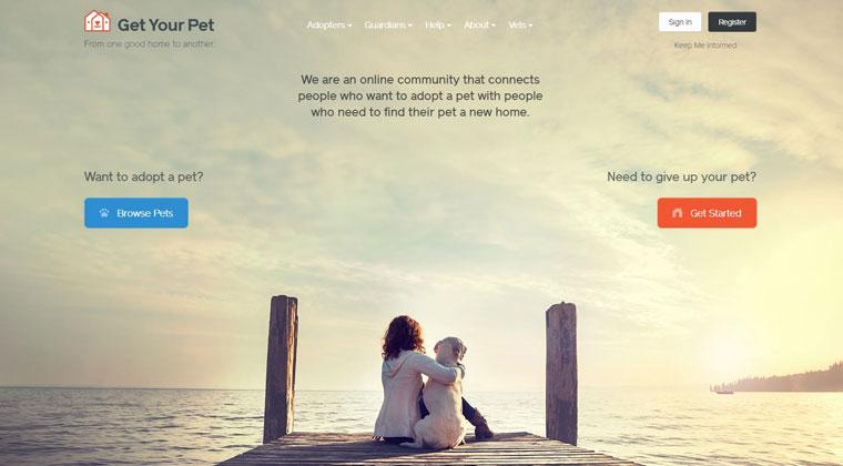 GetYourPet.com homepage