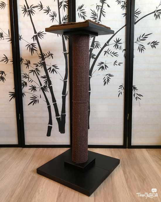Extra Tall Scratching Post and Perch from Art of Paws