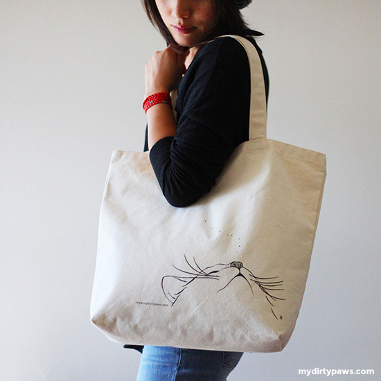 My Dirty Paws Tote Bag by Stacy Tang
