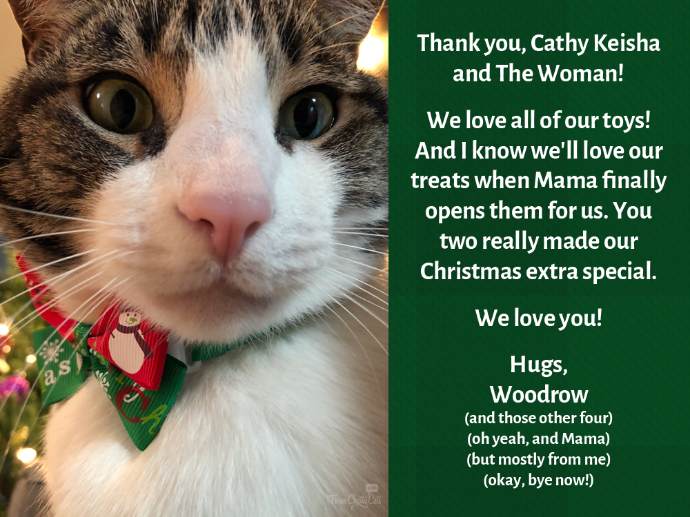 Woodrow thanks CK and TW from Stunning Keisha
