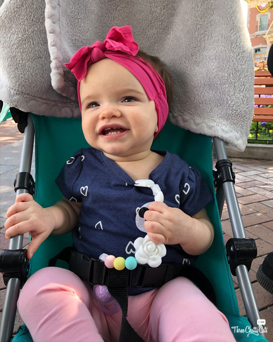 happy baby at Disneyland