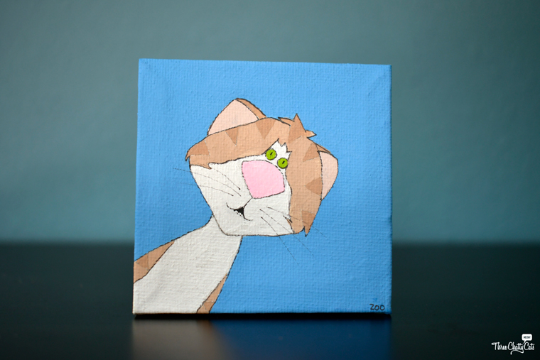 tabby cat painting