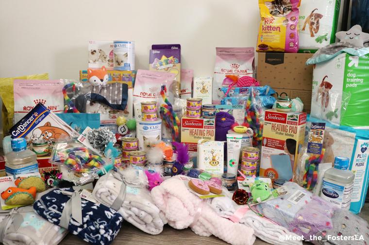 donation pile from kitten shower