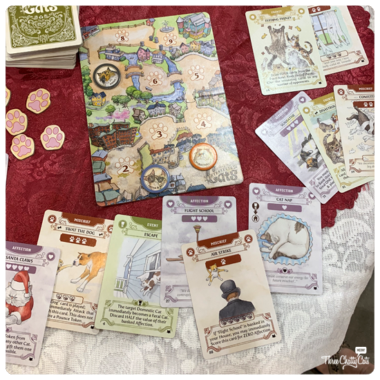 Cantankerous Cats card game at CatCon 2019