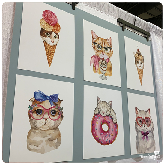 cat art at CatCon 2019