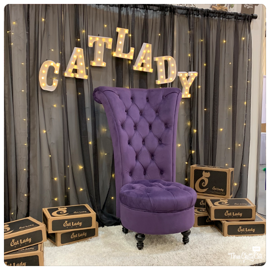 Cat Lady Throne from CatLadyBox at CatCon 2019