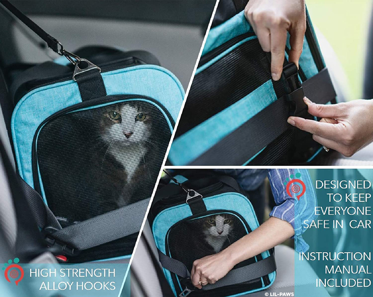 Lil-Paws pet carrier safety features