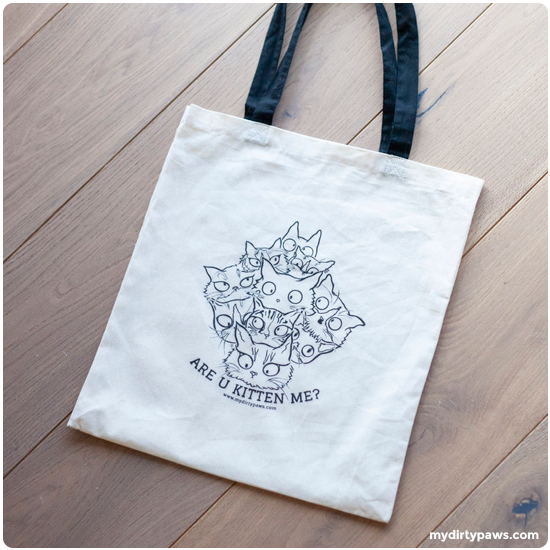 My Dirty Paws Are U Kitten Me Tote Bag